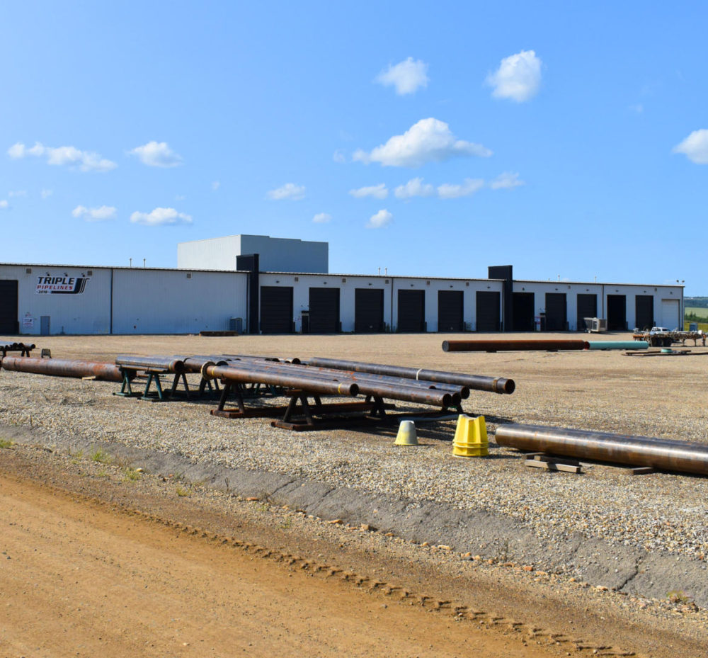 Triple J Pipelines Fabrication Shop in Dawson Creek, BC